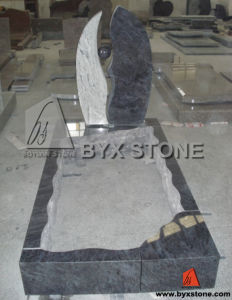 European Traditional Kerbed Headstone / Granite Monument pictures & photos