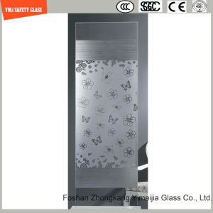 4-19mm Silkscreen Print/No Fingerprint Acid Etch/Frosted/Pattern Safety Tempered/Toughened Glass for Shower, Bathroom, Fence with SGCC, Ce Certificate pictures & photos