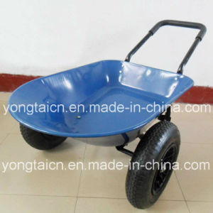 5 Cubic Feet Metal Tray Garden Wheelbarrow with Double Wheels pictures & photos