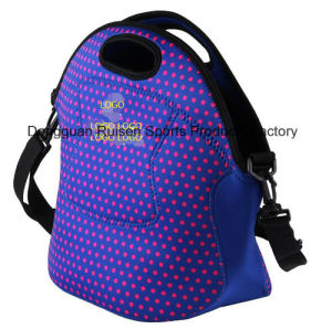 Wholesale Neoprene Lunch Cooler Bag with Carrying Handle in Mix Color