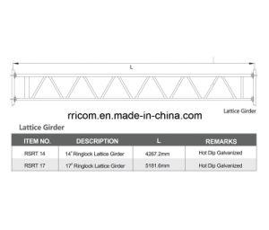 En74 Standard HDG Ringlock Scaffold Lattice Girder pictures & photos