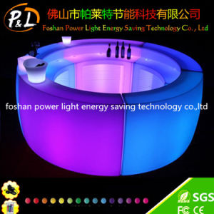 PE Plastic LED Lighting Round Bar Table pictures & photos