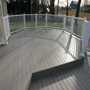 WPC Decking with Waste Wood and Plastic for Exterior