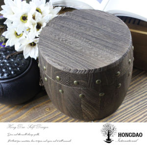 Hongdao Round Wooden Coffee Packaging Box_D pictures & photos