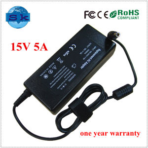 Factory Supply Laptop AC Adapter for Toshiba 15V 5A 75W DC Tip 6.3*3.0mm