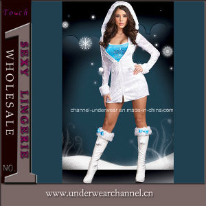 Role-Playing Eskimo Adult Cosplay Christmas Party Sexy Costume (6118) pictures & photos