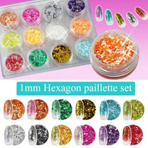 1mm Nail Dazzling Flakes Material for Nail Decoration