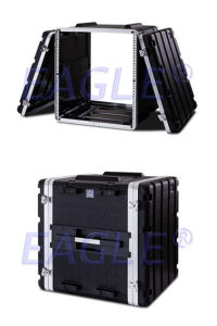 Standard Waterproof Aluminum Flight Rack ABS Case for Equipments (12U)