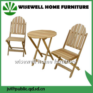 3PC Oak Wood Bistro Furniture Set pictures & photos