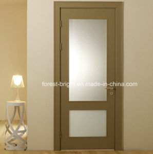 Veneer MDF Glass Insert Wood Interior Door pictures & photos