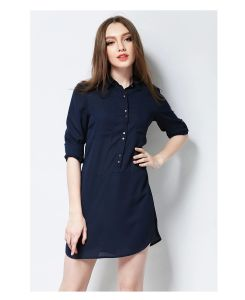 Latest Ladies Long Sleeve Women Chiffon Dress for Summer pictures & photos