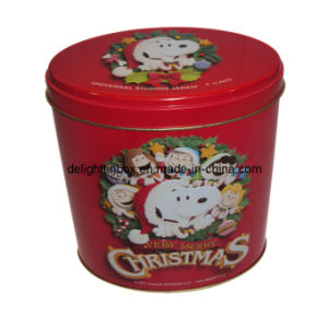 Christmas Oval Tin/Metal Box/Can-Dl0148