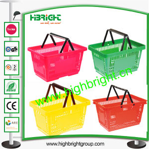 Supermarket Hand Plastic Shopping Basket pictures & photos