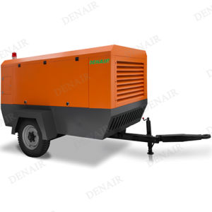 Cummins Diesel Driven Portable Compressor for 2 Wheels pictures & photos