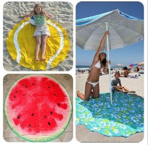 Thickened Superfine Fiber Beach Towel pictures & photos