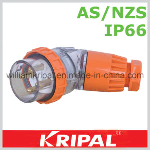 IP66 4pin 32A Angled Weatherproof Plug pictures & photos