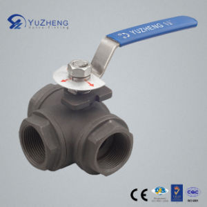 3 Way L Type Carbon Steel Ball Valve pictures & photos