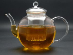 Glass Tea Pot with Handle, 1.1L Glass Tea Pot (GT003) pictures & photos