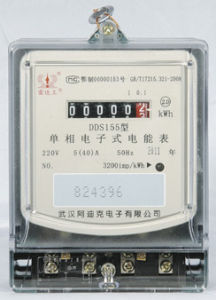 CE Certificated Single Phase Static Electronic Kwh Meter with Register pictures & photos