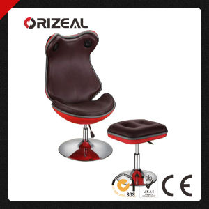 Ergonomic Leather Lounge Chair with Foot Stool (OZ-CC006) pictures & photos