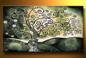 Modern Abstract Tree Oil Painting Home Decoration (LA1-046) pictures & photos