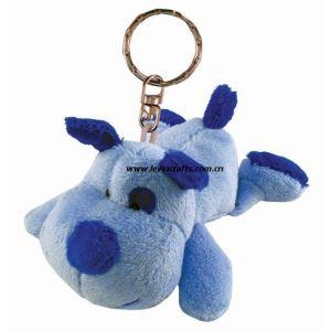 Lovely Blue DOT Dog Plush Keychains