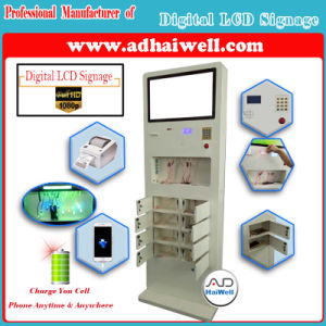 "32"" Full HD Touch LCD Kiosk Public Free Mobile Phone with Mfi Cable Charging Station pictures & photos"