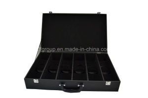 Hot Selling Popular Six Bottle Black Leather Wine Box pictures & photos