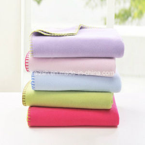 Superfine Fleece Blanket Plain Solid Baby Blanket Napping Blanket pictures & photos
