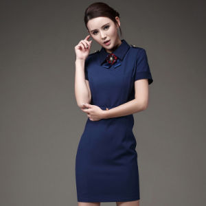 Lady Clothing Office Bodycon Dresses Short Sleeve Career Dress pictures & photos