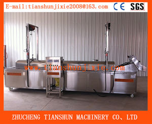 Commercial Frozen Wavy Purple Sweet Potato Chips Frying Machine Tszd-30 pictures & photos
