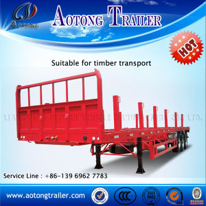 Heavy Duty 3 Axle Low Flatbed Semi Trailer for Sale pictures & photos