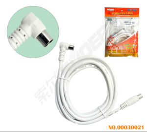 Suoer 3m Right Angle to Straight TV Audio Video Cable (AV-TV06-3M-White-Red Packing) pictures & photos