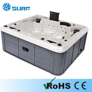 Luxury Outdoor SPA Whirlpool Jacuzzi Massage Hot Tub With Magic LED Light SF