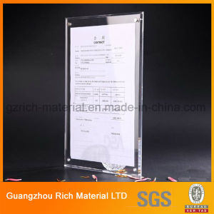 Acrylic Menu Stand/Plastic Display Menu Holder for Advertising pictures & photos