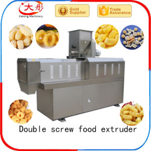 Snacks Food Machine Double Screw Extruder (SLG70) pictures & photos