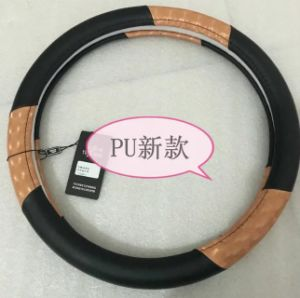 Genuine Leather Handle Steering Wheel Covers for BMW-X1 Model pictures & photos