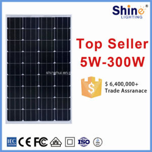 100W Cheap Price High Efficiency Monocrystalline Solar Panel Module for Home Electricity pictures & photos