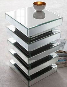 Glass Mirror Furniture Mirrored Side End Table pictures & photos