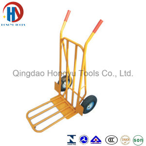 Foldable Hand Trolley with Yellow Color and Good Quality (HT1827A) pictures & photos