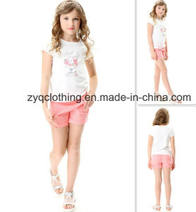 Round-Neck Shirt, Girl′s Shirt, Knitted T-Shirt pictures & photos