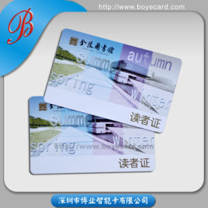 SGS Approed PVC Plastic Contactless IC Card for Library pictures & photos