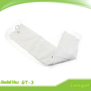 White 100% Imported Cotton Golf Towel