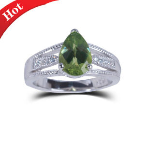 2014 New Popular Fashion 925 Silverjewelry Ring Natural Green