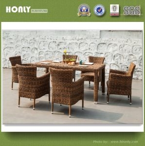 Modern Patio Garden Magic Rattan Resturant Dining Table Set