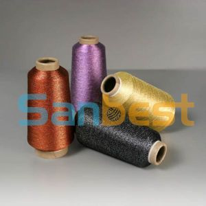 Colorful Metallic Embroidery Thread with Polyester Core Yarn pictures & photos