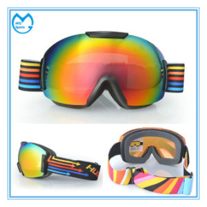 Fashion TPU Frame Womens Snowboarding Goggles with Interchangeable Lens pictures & photos