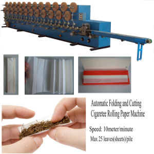 Full Automatic Interfolding Roll Your Own Cigarette Rolling Paper Machine for Smoking Paper pictures & photos