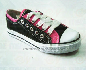 High Quality Rubber Canvas Footwear Shoes (ET-MY170435W)