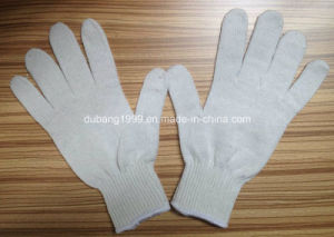 2015hot Sale Bleached 10gauge 35g Knitted Cotton Gloves Working Gloves